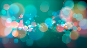 Abstract Bokeh Light Background, Vector Illustration Stock Images