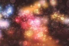 Abstract bokeh light on dark background stock images