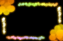 Abstract bokeh light frame Royalty Free Stock Photos