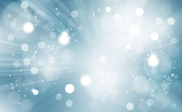 Abstract bokeh with light rays background Royalty Free Stock Photos