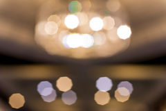 Abstract bokeh from Lighting decor for background Royalty Free Stock Images
