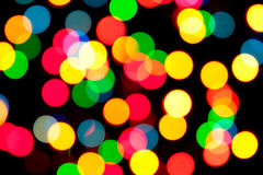 Abstract bokeh lights background Stock Images