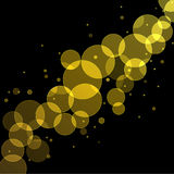 Gold Bokeh Background. Abstract bokeh lights background Royalty Free Stock Photo