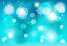 Christmas blue bokeh lights effect wallpaper. Abstract bokeh lights blue background for Birthday, Wedding Day, Winter Holiday Christmas, Carnival, Festival Event Royalty Free Stock Images