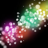 Abstract Bokeh Lights Festive Background Stock Images