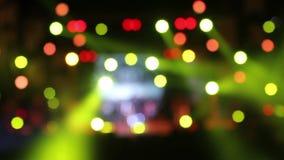 Abstract bokeh lights stock footage