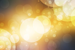 Abstract bokeh lights on golden and red background. Christmas circle Royalty Free Stock Photos