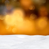 Abstract bokeh lights and snowdrift Royalty Free Stock Image