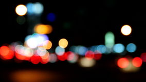 Abstract bokeh movement, Traffic light bokeh at night stock footage