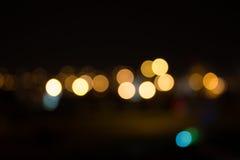 Abstract Bokeh at Night royalty free stock images