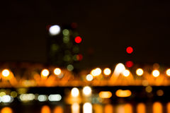Abstract bokeh night  in city Royalty Free Stock Photos