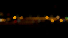 Abstract bokeh night  in city Royalty Free Stock Image