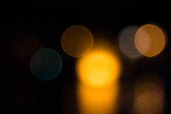 Abstract bokeh night  in city Royalty Free Stock Photo