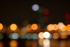 Abstract bokeh night  in city Stock Images