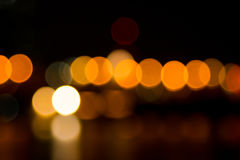 Abstract bokeh night  in city. Background Royalty Free Stock Photography