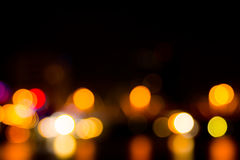 Abstract bokeh night  in city. Background Royalty Free Stock Images