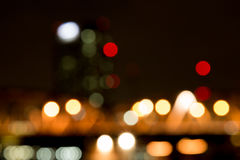 Abstract bokeh night  in city. Background Royalty Free Stock Photo