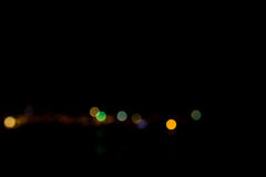 Abstract bokeh night  in city. Background Stock Photos
