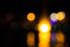 Abstract bokeh night  in city. Background Stock Photography