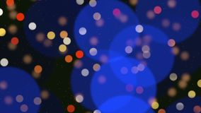 Abstract bokeh particles falling. Happy New Year, Merry Christmas, Happy Birthday day shiny background. Luxury and elegant dynamic style template for winter stock video footage