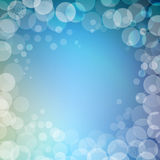 Abstract bokeh sparkles frame with blurred Royalty Free Stock Image