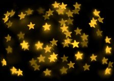 Abstract bokeh stars Stock Photo