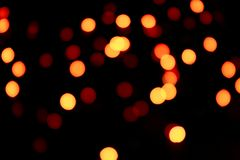 Abstract bokeh texture on black background. royalty free stock photos