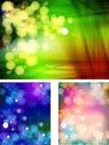 Abstract bokeh three collections background Stock Photos