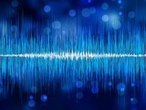 Abstract bokeh waveform. EPS 8. Vector file included Stock Photos