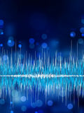 Abstract bokeh waveform vector background. EPS 8 Stock Photos