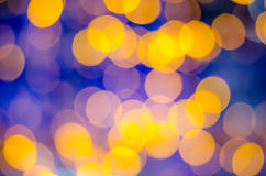 Abstract bokeh on yellow blue background Royalty Free Stock Image