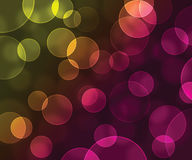 Abstract bokeh yellow and pink background Stock Photography