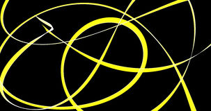 Abstract Bold Yellow Lines On Dark Background. Abstract Design In Yellow Stokes On Dark Background Stock Photo