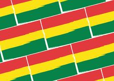 Abstract BOLIVIAN flag or banner Stock Photo