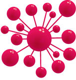 Abstract boll. Red boll form different size  design  pattern science Stock Image