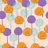 Abstract Bomen Naadloos Patroon Stock Foto