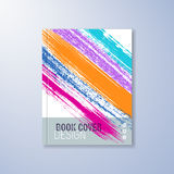Abstract book design template. With colorful brush strokes Stock Photo
