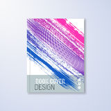 Abstract book design template. With colorful brush strokes Stock Image
