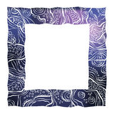 Abstract border. Abstract vector watercolor blue frame Stock Illustration