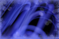 Abstract Border of Blue Swirls Royalty Free Stock Photography