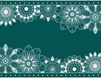 Abstract border with floral. Elements. Vector illustration Stock Photography