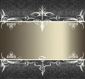 Abstract border frame background. Abstract border frame, has vintage grunge background texture design with lighting, luxurious paper or wallpaper Stock Photo
