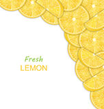 Abstract Border with Sliced Lemons Royalty Free Stock Photo