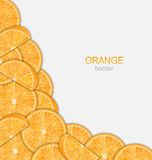 Abstract Border with Sliced Oranges Royalty Free Stock Photography
