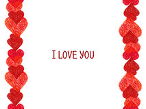 Abstract border.  Valentines Day design Royalty Free Stock Image