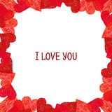 Abstract border.  Valentines Day design Royalty Free Stock Images