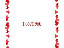 Abstract border.  Valentines Day design Stock Images