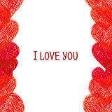 Abstract border.  Valentines Day design Stock Photography