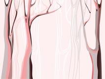 Abstract bos met bomensilhouetten royalty-vrije illustratie