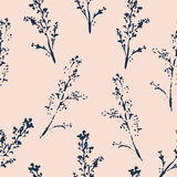 Abstract botanical seamless pattern. Vector herbal background Stock Photography